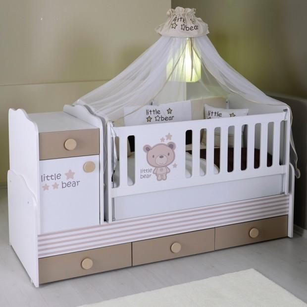 Fonksiyonel Cibinlikli Bebek Mobilyası