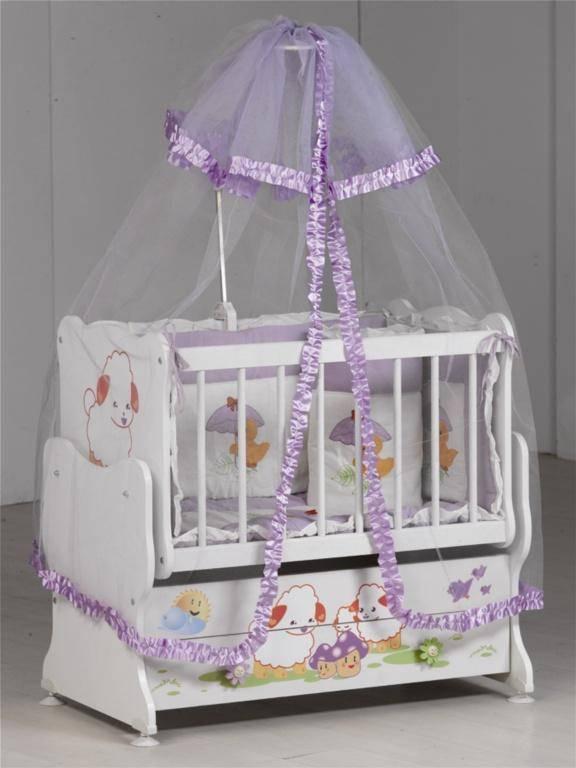 Tül Cibinlikli Bebek Beşiği Tasarımı